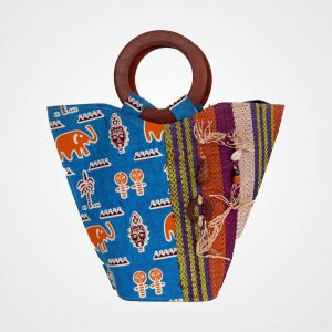 Blue tribal bag